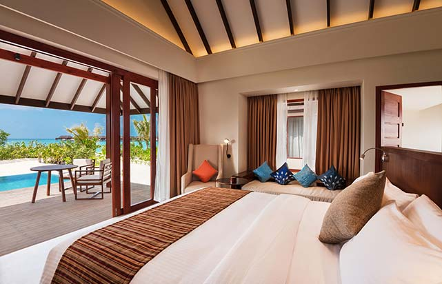 Beach Villa with Pool - Bedroom