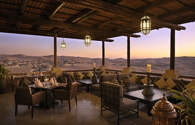 Panoramic Desert Views from Suhail Restaurant