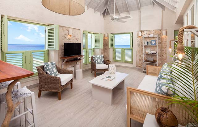 Two Bedroom Ocean Front Fort Suite - Living