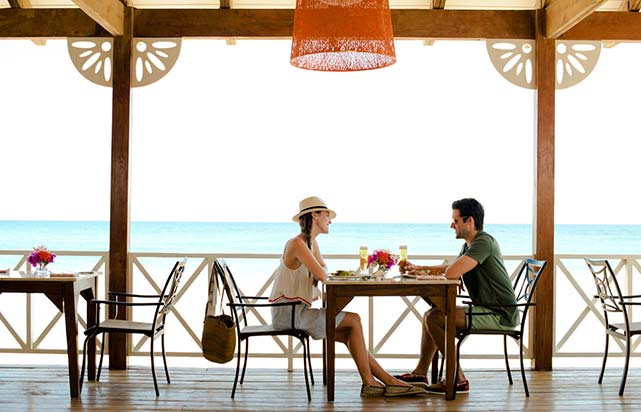 Dining Beside the Beach