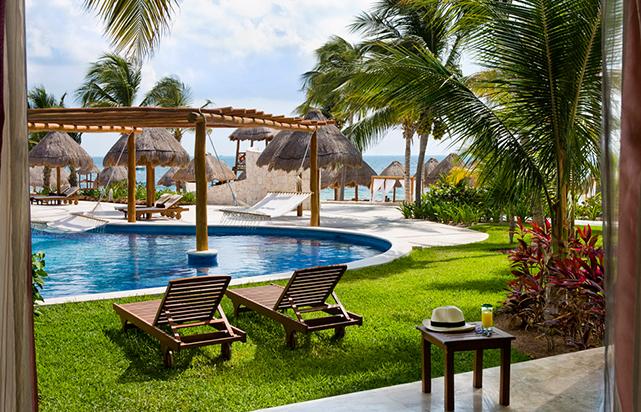 Excellence Club Swim Up Suite Terrace