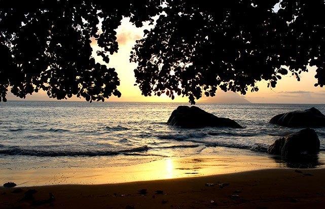 Beau Vallon Beach Sunset