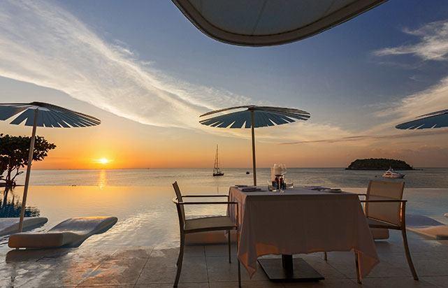 Pool Restaurant Sunset Oceanview