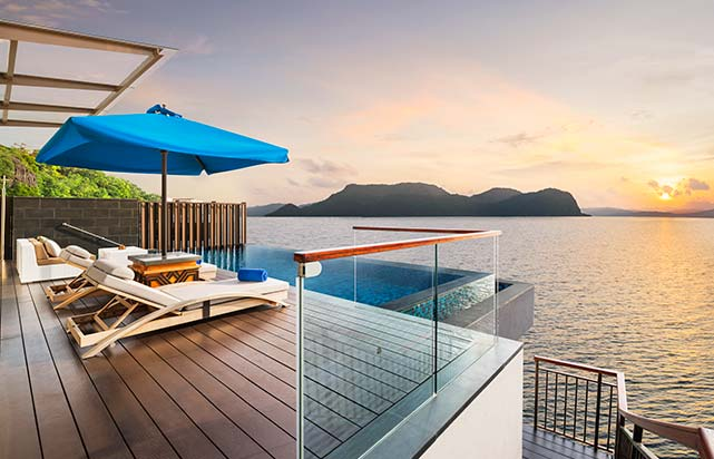 Sunset Villa Pool Deck