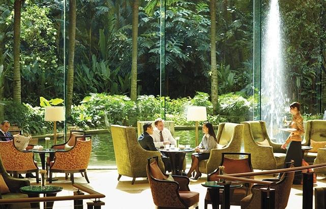 Lobby Lounge Overlooking Gardens