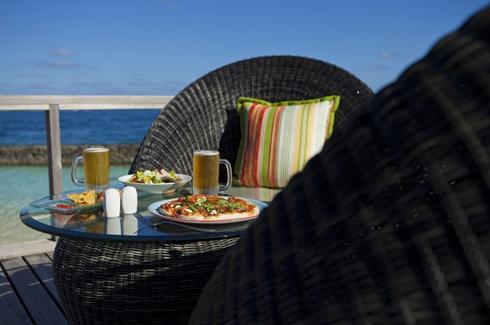 Pizza At Beach Bar