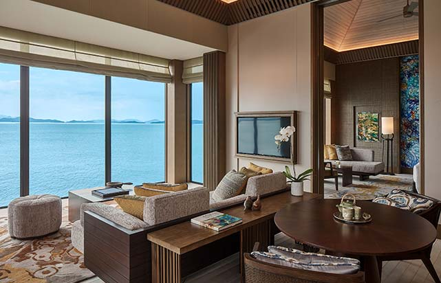 Ocean Front Villas - Living Room