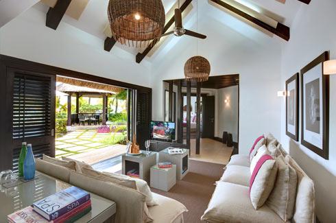 Beachfront Villa Living Room