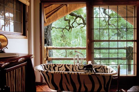 River Room zebra bath