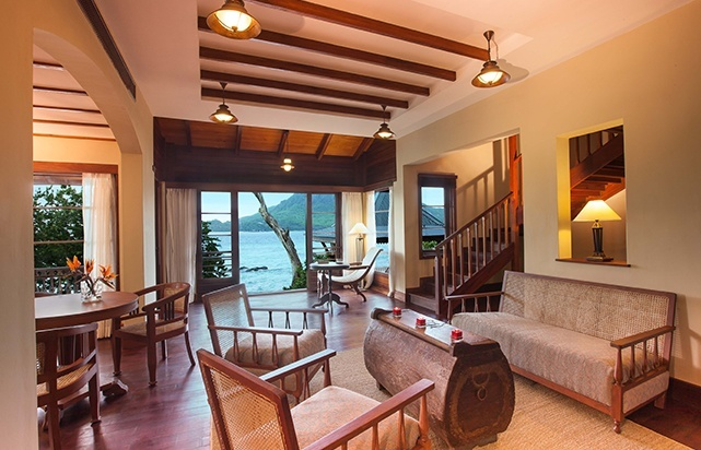 Enchanted Island Seychelles- Living Room Villa