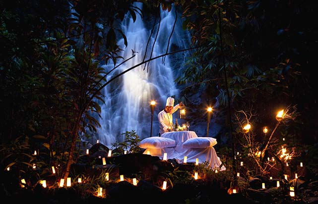 Waterfall Dinner Private dining