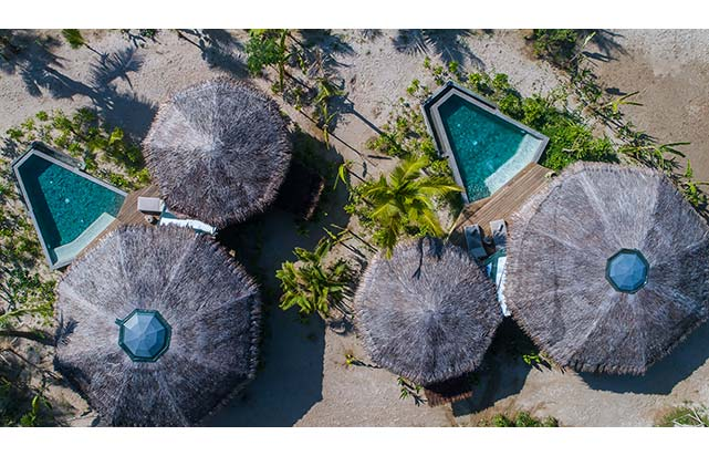 Beachfront Pool Villa - Aerial