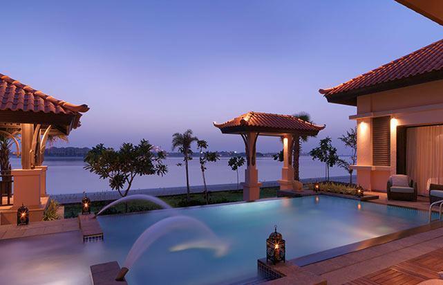 2 Bedroom Beach Pool Villa at Night